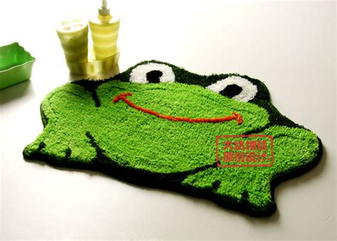 Lovely Cartoon Frog Non Slip Bath Rug L2206 Wholesale Frog Bathroom Rug