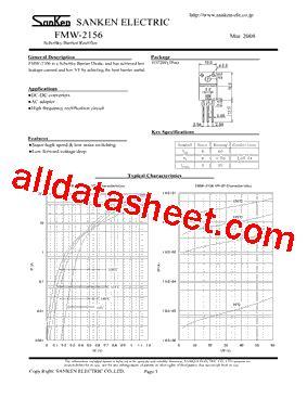que es schottky barrier diode fmw 2156 datasheet pdf sanken electric