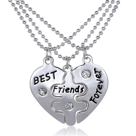 bff best friends forever 3 part pendent