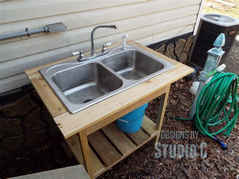how to install a kitchen sink install an outdoor sink faucet