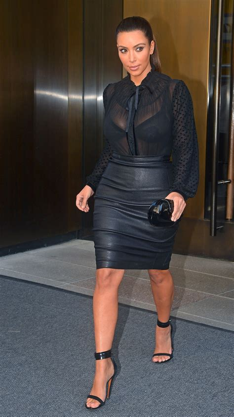 in tight leather skirt 05 gotceleb