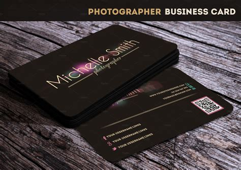 Photographer Business Card Business Card Templates On Creative Market Card Templates For Photographers Free