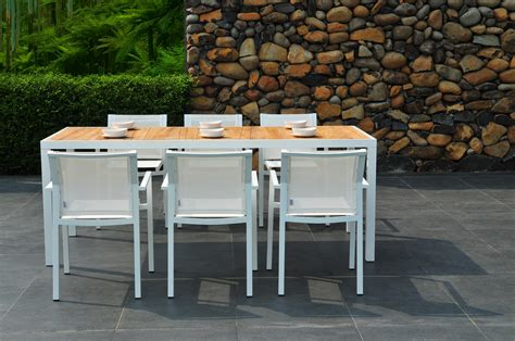 White Patio Dining Table And Chairs Teak Sr Hughes