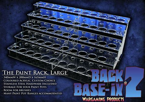 Airbrush Paint Rack by Back 2 Base Ix Wargaming Products
