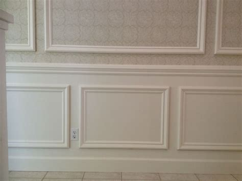Frame And Panel Wainscoting by This Classical Style Wainscoting Is Applied With A 3 8