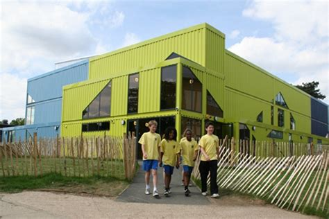 Open House Plans by Fun Prefab Gym Built From Containers Assembled In Three