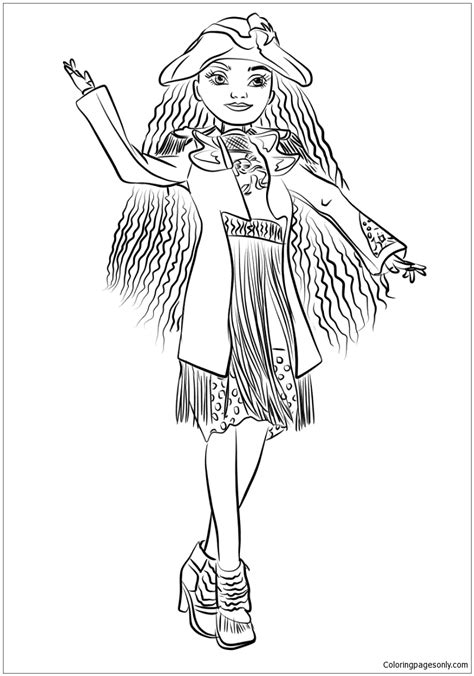 descendants coloring pages printable uma from descendants coloring page free coloring pages