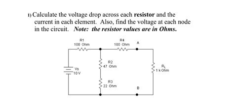 calculate voltage drop across each resistor calculate the voltage drop across each resistor an chegg