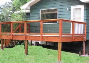 deck railing decks railings with tempered glass see plenty deck railing
