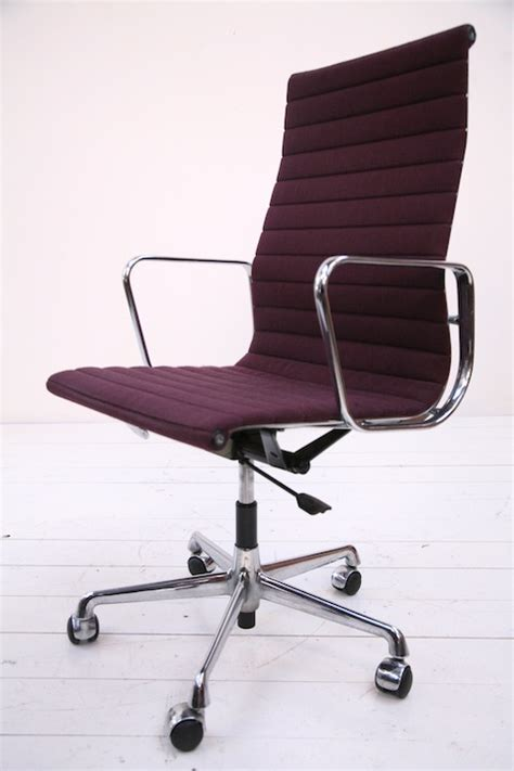ea117 high back desk chair by charles eames and chrome
