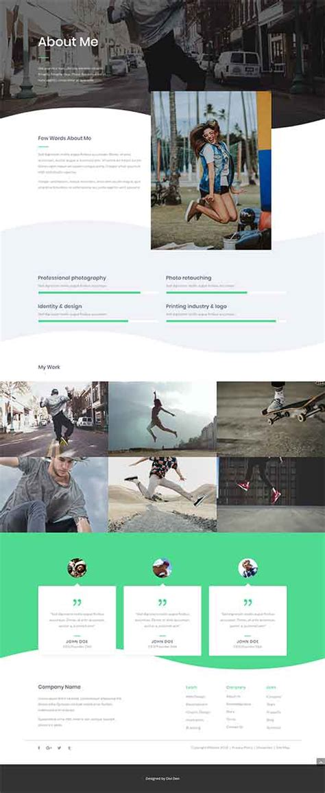 Divi Theme About Me Page Layout Divi Theme Layouts Divi Layout Templates