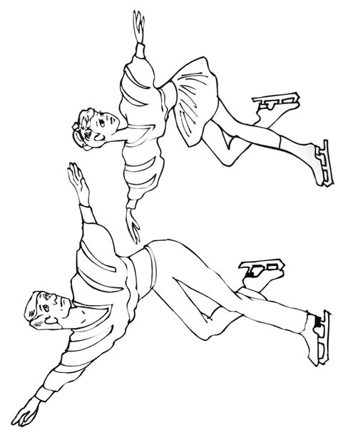 ice skaters coloring pages