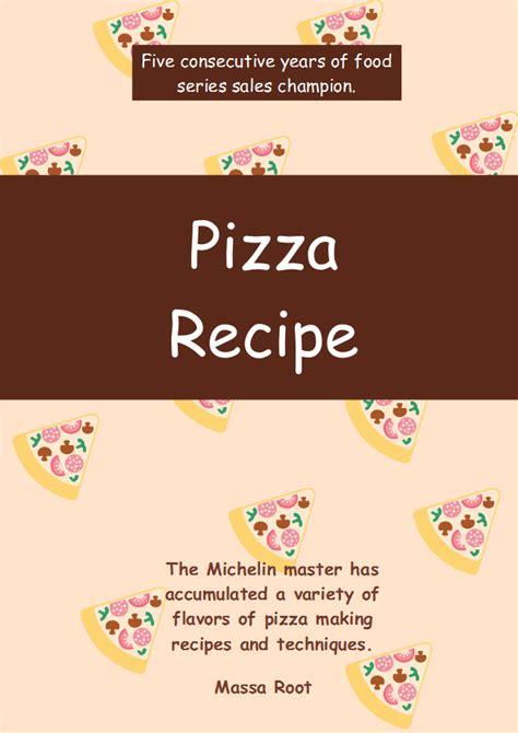 recipe book cover template free free pizza recipe book cover templates