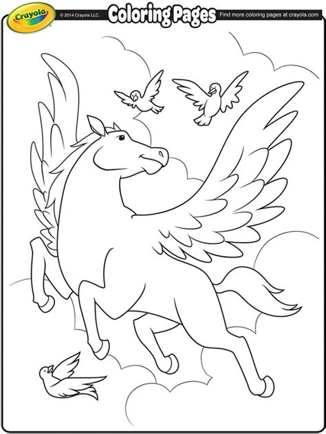 Pegasus Coloring Page Crayola Com Color Alive Pages