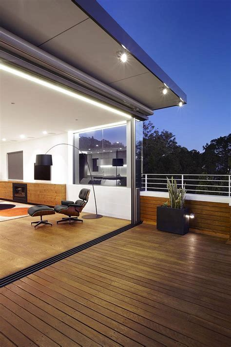 sweeping views  sydney  lovely earth tones shape  bellevue hill house