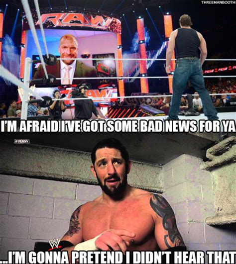 Bad News Barrett Meme - 3manbooth triple h should leave the bad news to bad