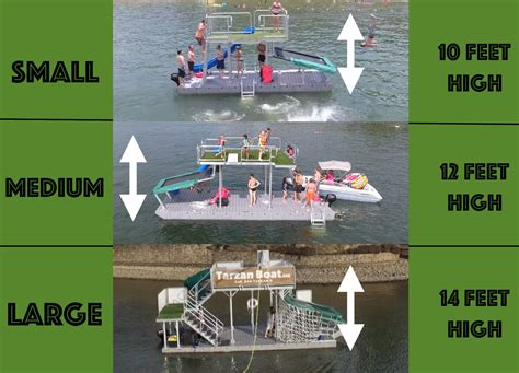 tarzan boat mini price 3 different sizes jungle float mobile floating water park