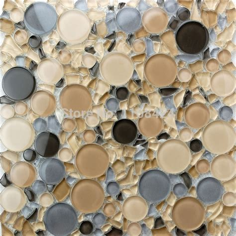 round bathroom tiles aliexpress com buy small and big round glass mosaic