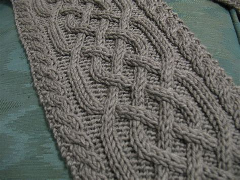 knitting flicking the tangled skein gabriel a cabled scarf pattern