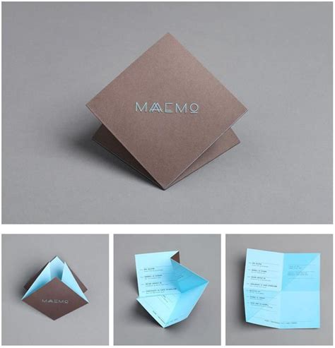 How To Fold A Paper Like A Brochure - origami menu like wuuttt graphic design inspiration