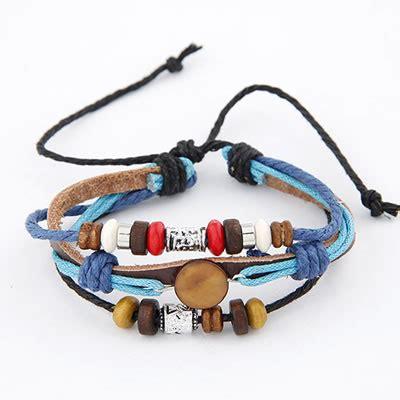 Flirty White Elephant Pearl Korean Fashion Bracelet elephant blue national style pu korean fashion bracelet
