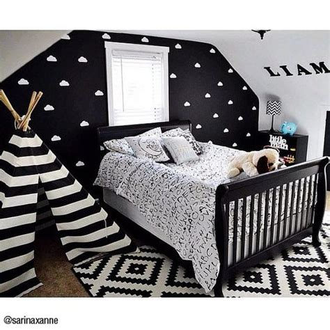 cute black and white bedroom ideas white nursery toddlers and toddler rooms on pinterest