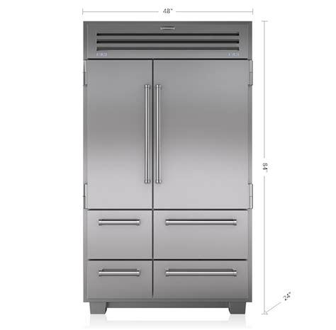 sub zero pro 48 true 48 quot vs sub zero pro 48 counter depth refrigerator