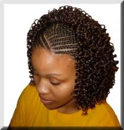 hairstyle in front black in back braided mohawk hairstyles for black girls