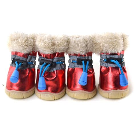 booties for snow winter boots anti slip pet puppy shoes protective snow booties waterproof ebay