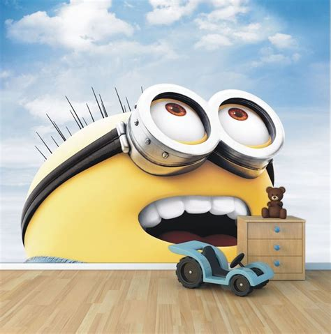 details about minion wallpaper mural style 1 childrens