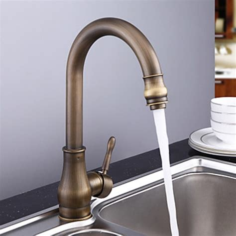 brass kitchen faucets antique brass rubbed bronze finish single handle kitchen faucet faucetsuperdeal