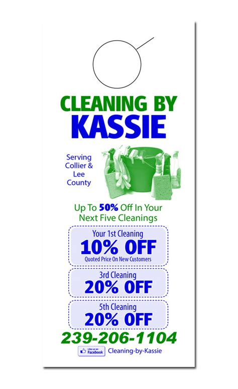 Cleaning Service Door Hanger Sles Window Cleaning Door Hangers Template