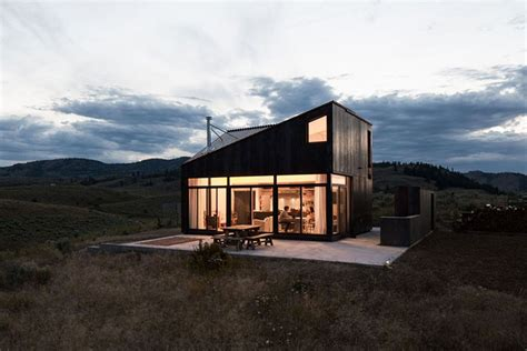 prefab timber cabin offers rustic retreat and killer views