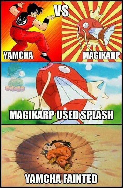 Yamcha Meme - dbz meme yamcha vs magikarp dragonball pinterest