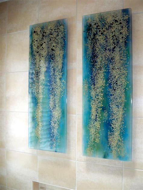 glass wall decor 25 unique glass wall ideas on fused glass