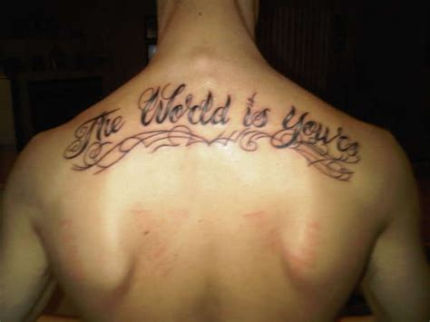 the world is yours tattoo the world is yours