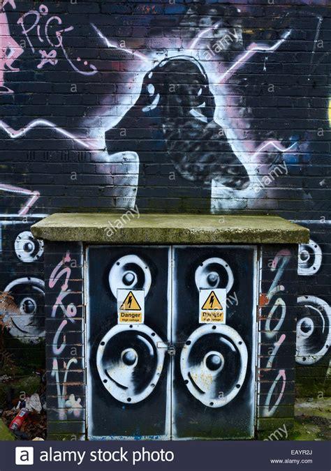 dj graffiti  wall stock photo royalty  image