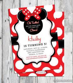 minnie mouse invitation printable minnie mouse birthday invitation minnie mouse