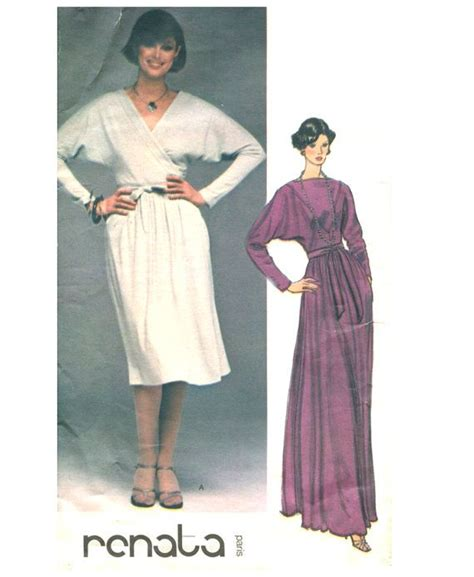dress pattern in french designer wrap evening dress sewing pattern vogue 1419