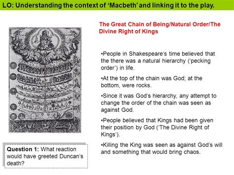 macbeth themes natural order lo understanding the context of macbeth and linking it