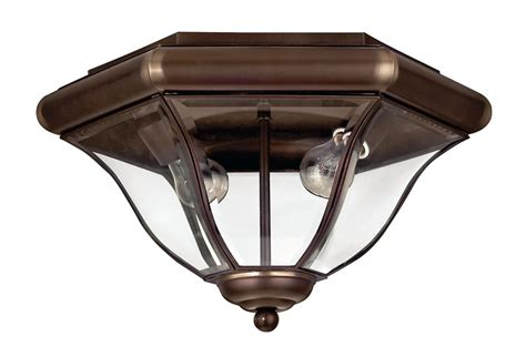 Hinkley Light Fixtures Hinkley Lighting 2443cb Copper Bronze 2 Light Outdoor Flush Mount Ceiling Fixture From The San