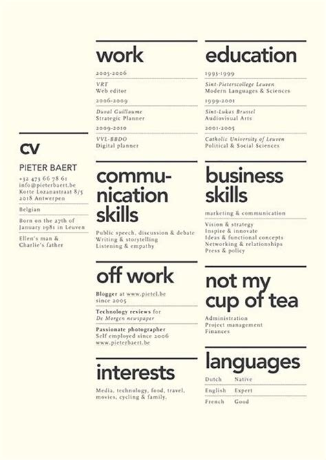 an in depth analysis on what makes or breaks a resume in the creative field designtaxi