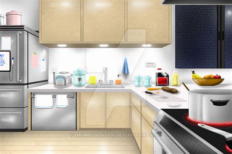 Kitchen Backdrops by Visual Novel Bg Kitchen By Grimbyslayer On Deviantart