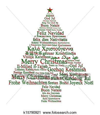 clipart  merry christmas   languages forming  christmas tree  search