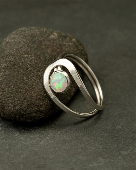 opal ring silver opal ring gemstone ring sterling silver