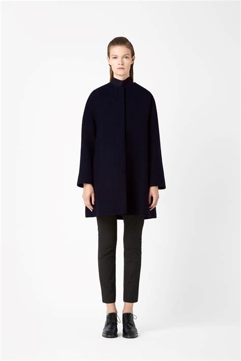 A Line Coat cos a line wool coat in blue navy lyst