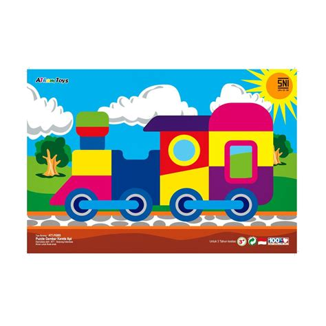 Mainan Edukatifedukasi Anak Puzzle Kereta Kayu jual non toxid puzzle kereta api mainan kayu