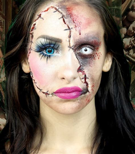 tutorial makeup halloween doll halloween makeup doll