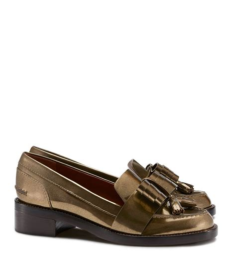 burch gold loafers burch hyde metallic loafer in gold bronze lyst