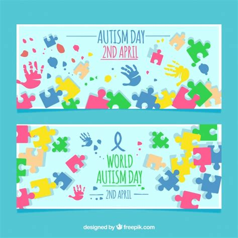 colorful puzzle pieces colorful puzzle pieces banners vector free